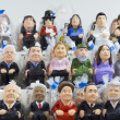 Caganers in SantLluciFair, Barcelona — Stock Photo #37071391