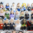Caganers in Santa Llucia Fair, Barcelona — Stock Photo