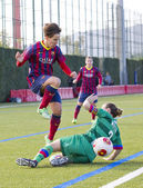 FC Barcelona women's football match — Stock Photo