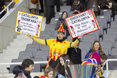 Catalonia National Team supporters — Stock Photo