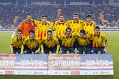 Catalonia National Soccer team — Stock Photo
