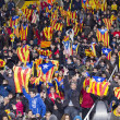 Catalonia National Team supporters — Stock Photo #38030619