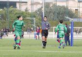 Women soccer match FC Barcelona vs Levante — Stock Photo