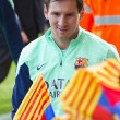 Messi at FC Barcelona training session — Stock fotografie