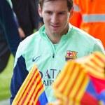 Messi at FC Barcelona training session — Stockfoto