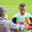 Stock Photo: Alexis at FC Barcelona training session