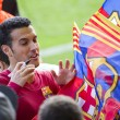 Stock Photo: Pedro at FC Barcelona training session