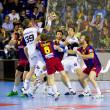 Handball match FC Barcelona vs Kiel — Stock Photo #38585255