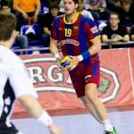 Handball match FC Barcelona vs Kiel — Stock Photo #38585571