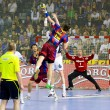 Handball match FC Barcelona vs Kiel — Stock Photo #38585595