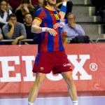 Handball player Laszlo Nagy — Stock Photo #38586043