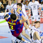 Handball match FC Barcelona vs Kiel — Stock Photo #38586217