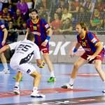 Handball match FC Barcelona vs Kiel — Stock Photo #38586559