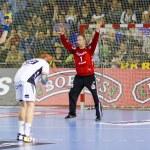 Handball match FC Barcelona vs Kiel — Stock Photo #38587273