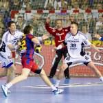 Handball match FC Barcelona vs Kiel — Stock Photo #38587291
