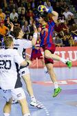 Handball match FC Barcelona vs Kiel — 图库照片
