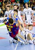 Handbal overeenkomen met fc barcelona vs kiel — Stockfoto