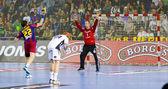 Házenkářský zápas fc barcelona vs kiel — Stock fotografie