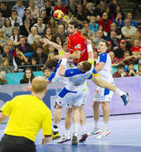 Handball match Spain vs Slovenia — Stock Photo