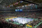 Handball match Denmark vs Croatia — Stock Photo