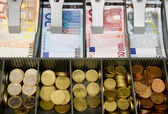 Money and bills — Stock Photo