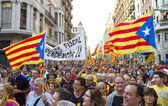 Protest in Barcelona, Spain — Stock Photo