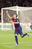 Alexis celebrating a goal — Stock Photo