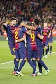 FC Barcelona goal celebration — Foto Stock