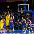 basket partita Barcellona vs maccabi — Foto Stock