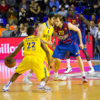 Stock Photo: Basketball match Barcelonvs Maccabi