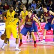 basketball match barcelona vs maccabi — Stock Photo #39209529