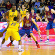 basketball match barcelona vs maccabi — Stock Photo #39210131