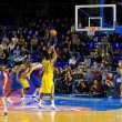 basketball match barcelona vs maccabi — Stock Photo #39210495