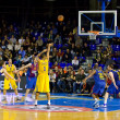 basketball match barcelona vs maccabi — Stock Photo #39211045