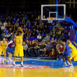 basketball match barcelona vs maccabi — Stock Photo #39211053
