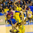 Basketball match Barcelonvs Maccabi — Stock Photo #39211415