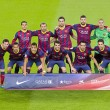 FC Barcelona players 2014 — Stock Photo