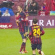 Stock Photo: FC Barcelongoal celebration