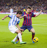 Lionel Messi in action — Stock Photo