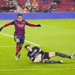 Alexis Sanchez in action — Stock Photo