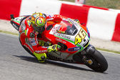 Valentino Rossi racing — Stock Photo