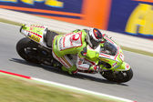 Hector Barbera racing — Stock Photo