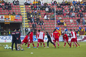 Football warm up — Stok fotoğraf