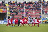 Football warm up — Foto Stock