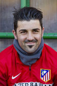 David Villa of Atletico — Stock Photo