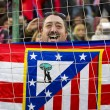 Stock Photo: Atletico de Madrid supporters
