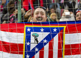 Atletico de Madrid supporters — Stock Photo