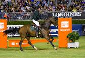 Horse jumping - Cian O'Connor — Stock Photo
