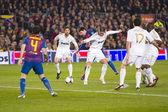 Leo Messi dribbling — Stock Photo