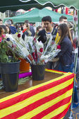 Sant Jordi day in Catalonia — Stock Photo